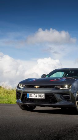 Chevrolet Camaro 50th Anniversary Edition, black, speed (vertical)