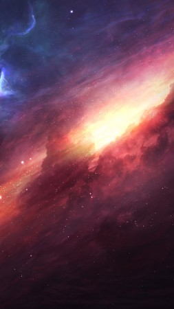 art, space, galaxy, universe, stars (vertical)