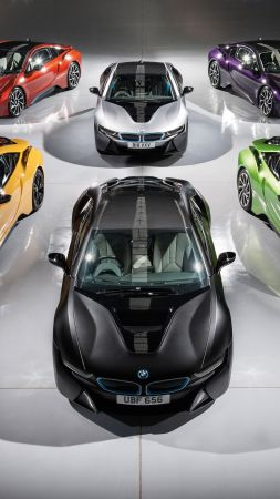 Bmw i8, individual color collection, supercar (vertical)