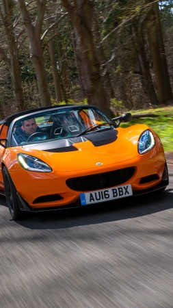 Lotus Elise Cup 250, roadster, speed, orange (vertical)