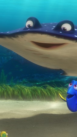 Finding Dory, nemo, ramp, fish, Pixar, animation (vertical)