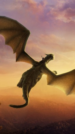 Pete's Dragon, Dragon, clouds, Best Movies of 2016