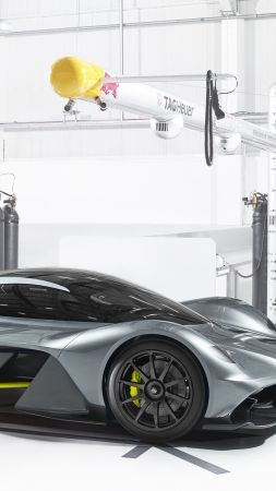 Aston Martin AM-RB 001, Red Bull, hypercar, silver (vertical)