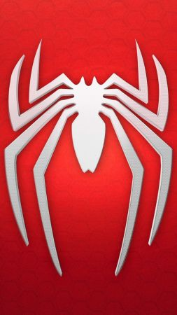 spiderman, logo, background, red, white (vertical)