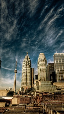 Toronto, Canada, downtown, sky, clouds, travel, vacation, booking (vertical)