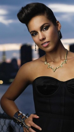 Alicia Keys, Most Popular Celebs, singer, songwriter, record producer, actress, car, taxi (vertical)