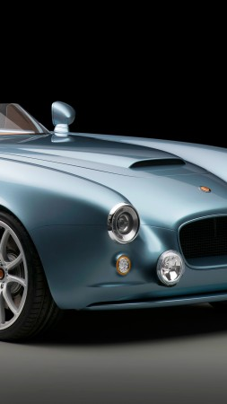 Bristol Bullet, speedster, roadster, supercar, blue (vertical)