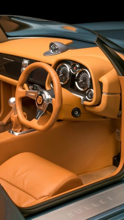 Bristol Bullet, speedster, roadster, supercar, interior (vertical)