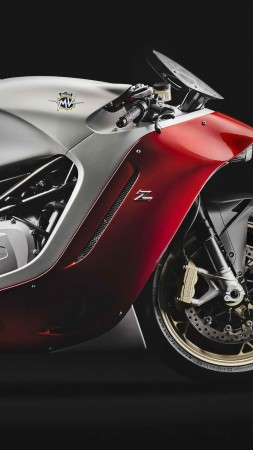 MV Agusta F4Z, speedbike, superbike, red, best bikes (vertical)