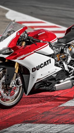 Ducati 1299 Panigale S, speedbike, superbike, red, best bikes (vertical)