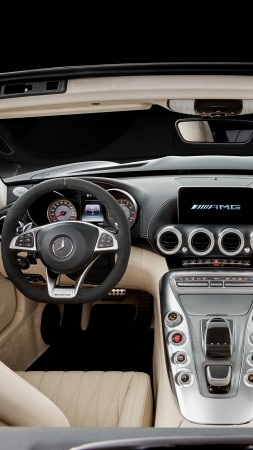 Mercedes-AMG GT C Roadster, paris auto show 2016, roadster, interior (vertical)