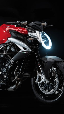 Mv Agusta Brutale 800, speedbike, superbike, red, best bikes (vertical)