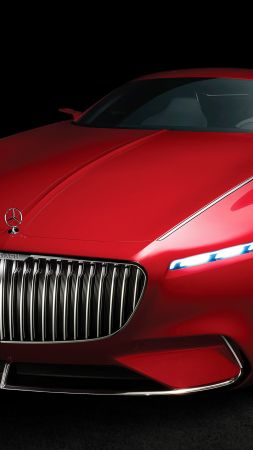 Vision Mercedes Maybach 6, electric cars, luxury cars, red