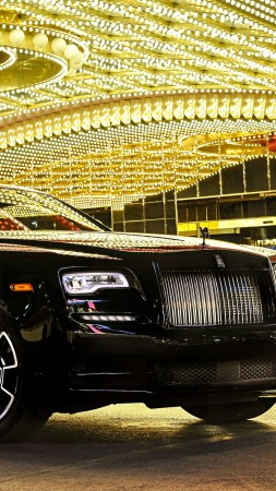 Rolls-Royce Wraith, Black Badge, paris auto show 2016, luxury cars (vertical)