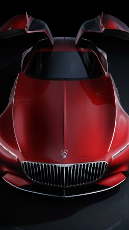 Vision Mercedes Maybach 6, electric cars, luxury cars, red (vertical)