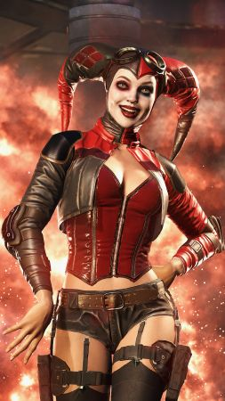 Injustice 2, Harley Quinn, fighting, PC, PlayStation, PS4, Xbox One (vertical)