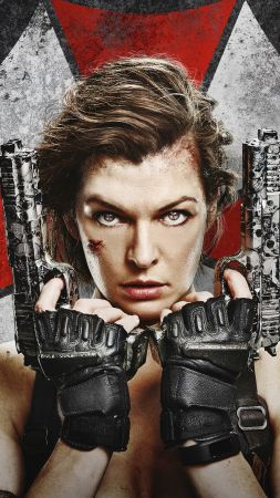 Resident Evil: The Final Chapter, Milla Jovovich, guns, best movies (vertical)