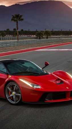 ferrari laferrari, supercar, sport cars, red, speed (vertical)