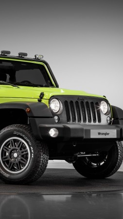 jeep wrangler rubicon, paris auto show 2016, moparone, green (vertical)