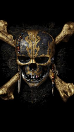 Pirates of the Caribbean: Dead Men Tell No Tales, skull, best movies (vertical)