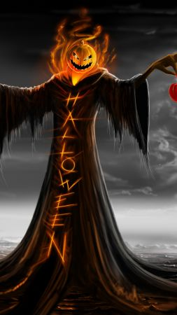 Holiday, Halloween, 31 october, pumpkin host (vertical)