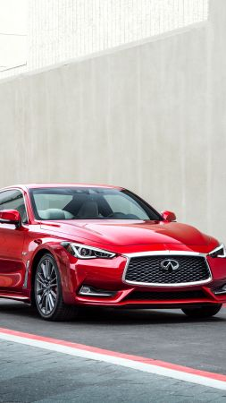 Infiniti Q60 Red Sport 400, coupe, red, sport