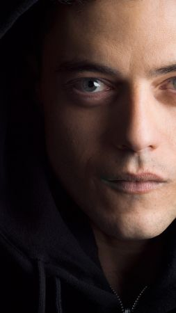 Mr. Robot 2 season, elliot alderson, Rami Malek, best TV series (vertical)