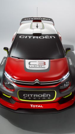 Citroen C3 WRC, paris auto show 2016, red, rally (vertical)