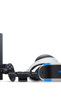 Playstation 4 Pro, PS4 Pro, Dualshock V2, PlayStation camera, PlayStation VR (vertical)
