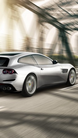 Ferrari GTC4lusso T, paris auto show 2016, Shooting brake, silver (vertical)