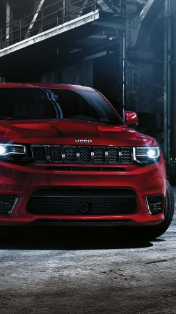 Jeep grand cherokee SRT, paris auto show 2016, moparone, red (vertical)