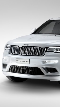 Jeep grand cherokee Summit, paris auto show 2016, moparone, white (vertical)