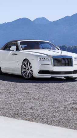 Spofec Rolls-Royce Dawn, white, luxury cars (vertical)