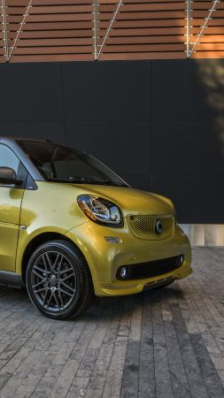 Smart ForTwo prime, electric cars, paris auto show 2016, gold (vertical)