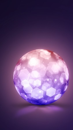 crystal, 8k, 4k, 5k wallpaper, lightning, ball (vertical)