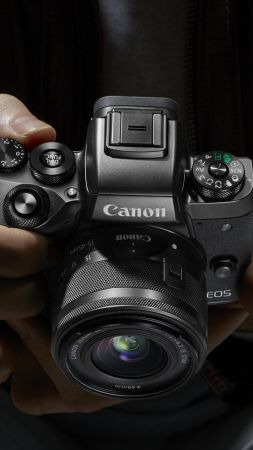 Canon EOS M5, Photokina 2016, 4k, review, Canon zoom, reflex (vertical)