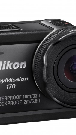 Nikon KeyMission 170, review, action camera, Photokina 2016, 4k video, lens, unboxing (vertical)