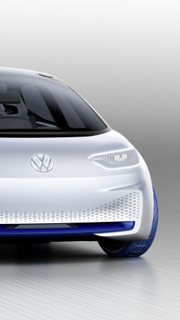 Volkswagen I.D., paris auto show 2016, electric cars, white (vertical)