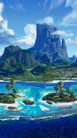 Moana, island, best animation movies of 2016 (vertical)
