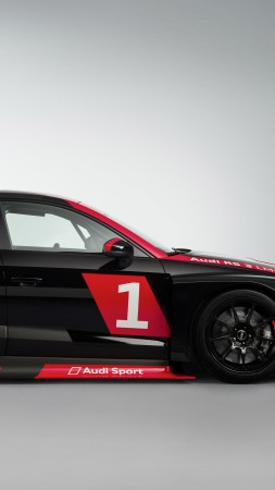 Audi RS 3 LMS, paris auto show 2016 (vertical)