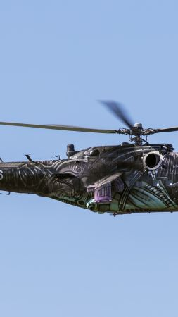 MI-24, Russian army, fighter helicopter, Russian air force (vertical)