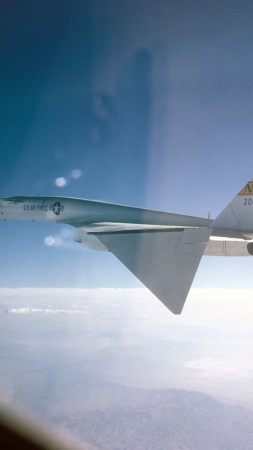 North American XB-70 Valkyrie, fighter aircraft, U.S. Air Force (vertical)