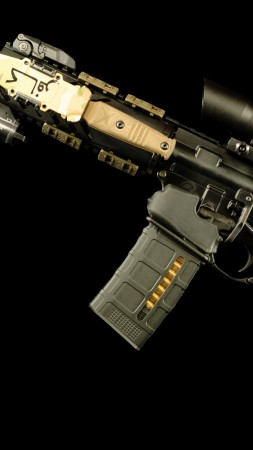 AR-15 rifle, 5, 56×45, U.S. Army (vertical)