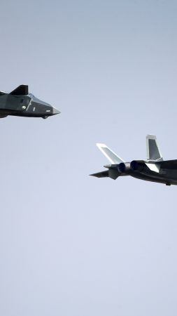 Shenyang J-20, China army, fighter aircraft, China air force (vertical)
