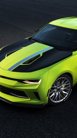 Chevrolet Camaro Turbo AutoX, SEMA 2016, yellow (vertical)