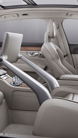 Volvo S90, interior, luxury cars (vertical)