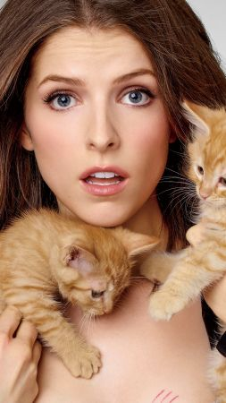 Anna Kendrick, kittens, cats, Top Fashion Models, model, actress
