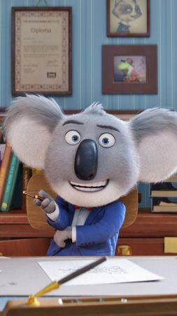 Sing, koala, buster, matthew mcconaughey, best animation movies of 2016 (vertical)