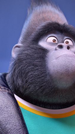 Sing, gorilla, johnny, taron egerton, best animation movies of 2016 (vertical)