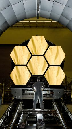 James Webb Space Telescope, space, NASA (vertical)